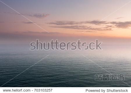 China's Dalian coast  calm sea level
