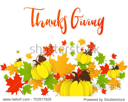 nice and beautiful abstract for Thanks Giving Day with nice and creative design illustration in background.