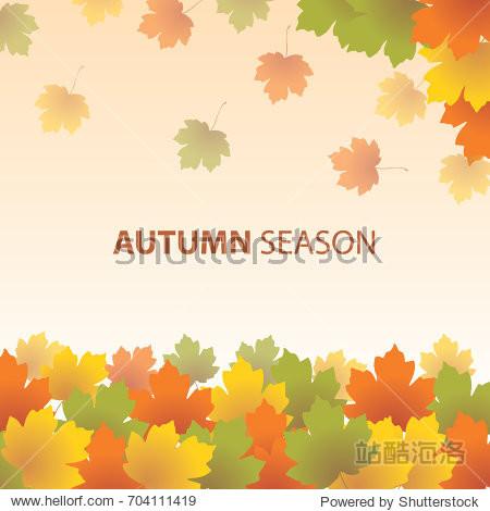 autumn season lanscape background