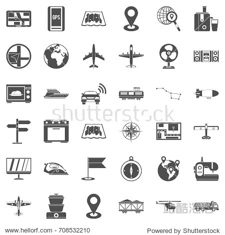 Digital icons set. Simple style of 36 digital vector icons for web isolated on white background