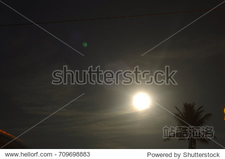 Moon in the sky on Malaysian zone time