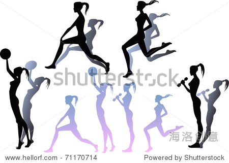 collection of sportive silhouettes