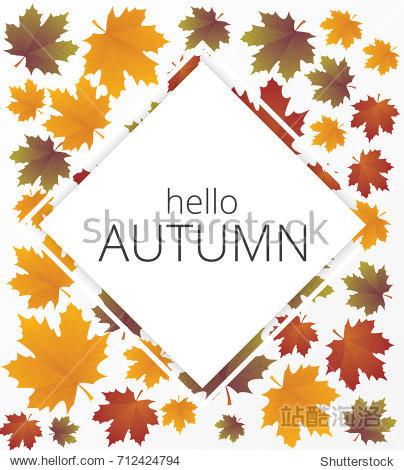 Vector autumn banner set. Illustration.