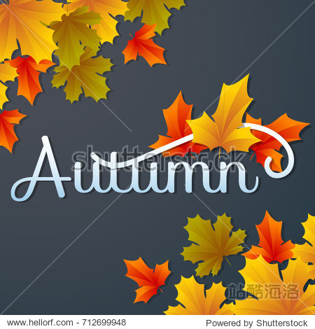 autumn sale template banner Vector background for banner  poster  flyer