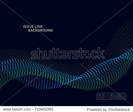 Elegant abstract vector web gradient wave dot line futuristic style background template