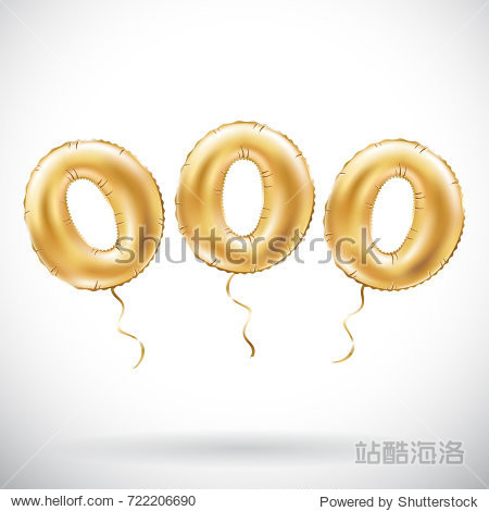 raster copy Golden number 000 Three zeros metallic balloon. Party decoration golden balloons. Anniversary sign for happy holiday  celebration  birthday  carnival  new year. art