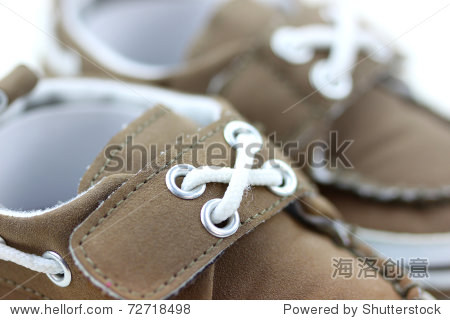 Close up shot of tiny baby shoes