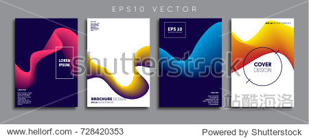Minimal Vector cover designs. Future Poster templates.