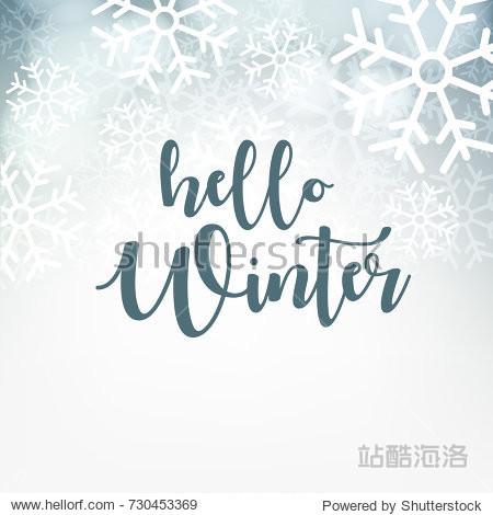 Hello Winter design background  Vector Illustration.