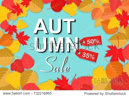 Autumn sale background template. Poster  card  label  banner design set. Layouts for shopping sale or promo poster and frame leaflet or web banner