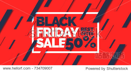 Black friday. Big sales. Trendy  modern poster to advertise your goods. Vector illustration.