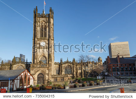 Manchester Cathedral is located in the city center of Manchester  UK