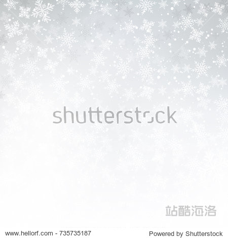 Winter white background christmas made of snowflake and snow with blank copy space for your text  Vector illustration