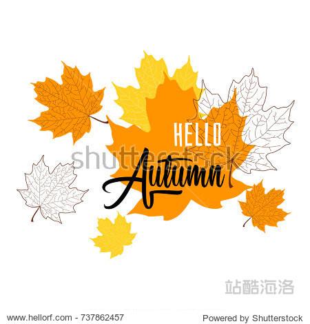 Hello Autumn. Vector illustration