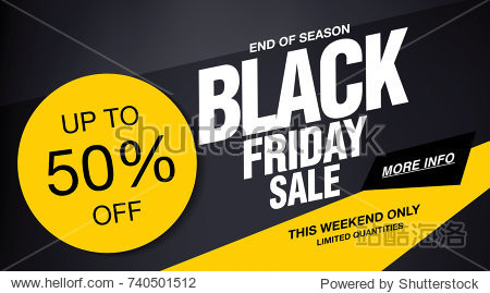 Black friday sale banner layout design