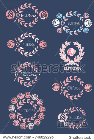 Logo with roses and wreath
