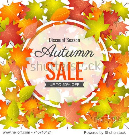 Autumn Sale Background.vector illustration