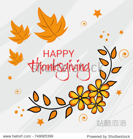 Vector illustration of a Banner for Happy Thanksgiving Day Celebration.