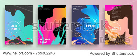 Artistic covers design. Creative colors backgrounds. Trendy futuristic design