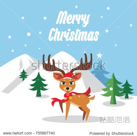 icon cute deer illustration