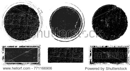 Grunge post Stamps Collection  Circles. Banners  Insignias   Logos  Icons  Labels and Badges Set . vector distress textures.blank shapes.