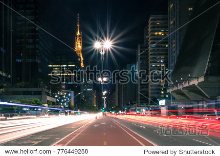 Paulista Avenue at night - Sao Paulo  Brazil