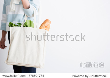 Hand with an eco bag