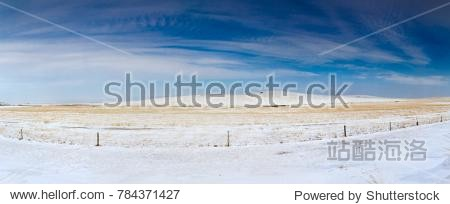 Xilin Gol League Glacier Steppe Landscape in Inner