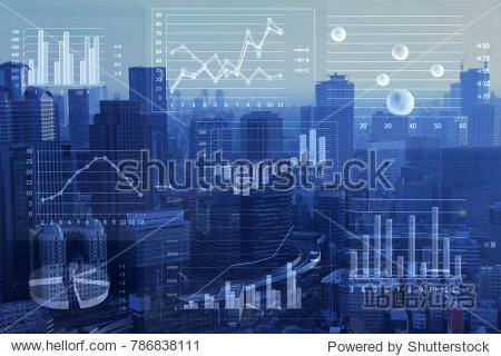 Business consept  Financial graphs