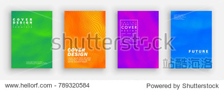 Minimal covers design. Colorful halftone gradients. Background abstract patterns. Vector template brochures  flyers  presentations  leaflet  magazine a4 size