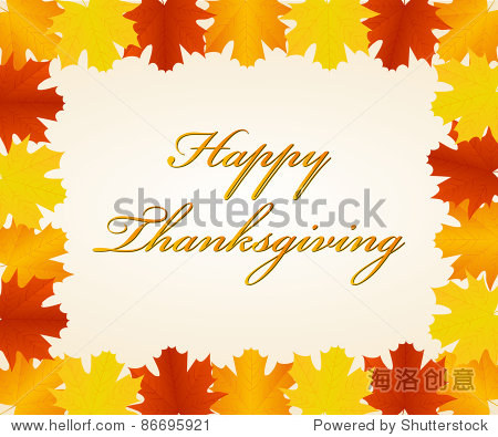 Thanksgiving day background. Vector available.