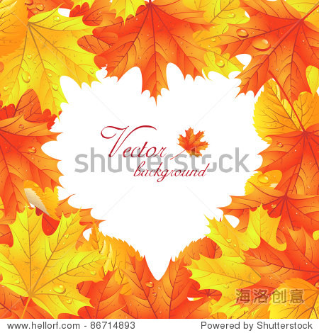 Maple leaves  in the shape of heart