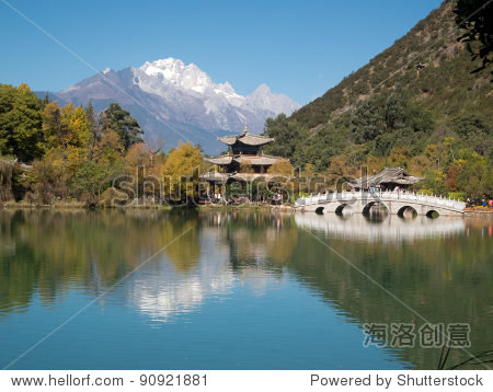 black dragon lake at Lijiang, China