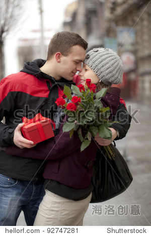 A man dating with his girlfriend. Katowice  Poland  Europe