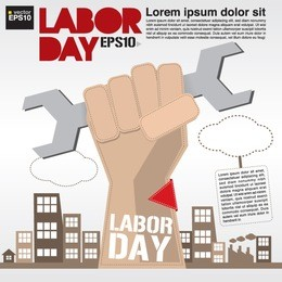 May 1st Labor day illustration conceptual vector.EPS10