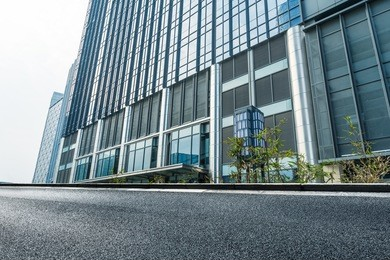 facade of office building, low angle view