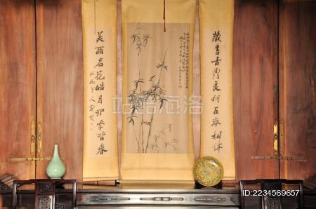 杭州胡雪岩故居里的水墨画
