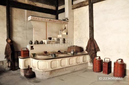 杭州胡雪岩故居里的厨房