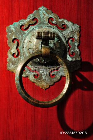 南宋官窑博物馆里的门环