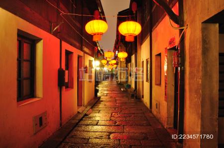 杭州小河直街夜景