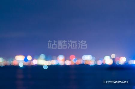 城市夜景光斑