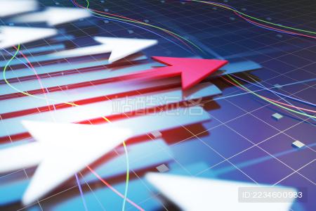 高速发展的经济与箭头