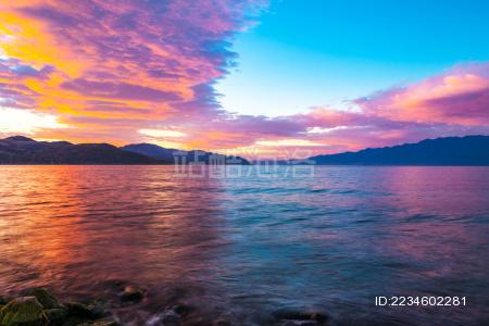 洱海的黎明