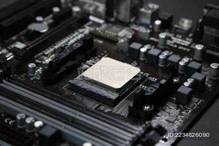 安装在电脑主板上的中央处理器CPU