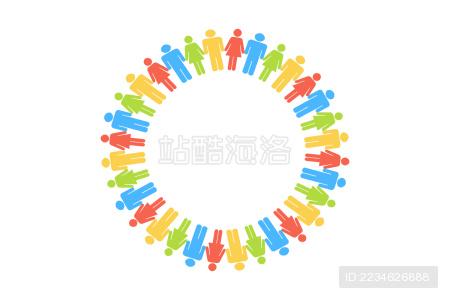 团队创意概念设计插画在白色的背景上