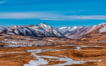 西藏南迦巴瓦雪山风景