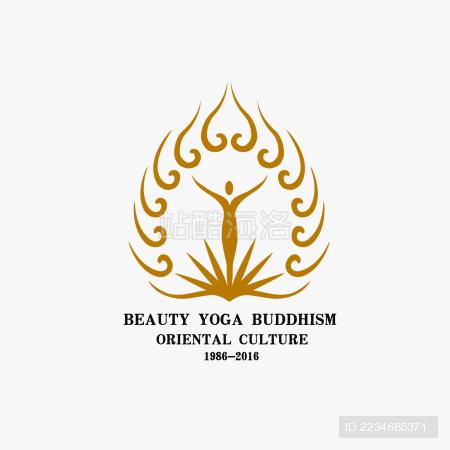 瑜伽标志logo素材