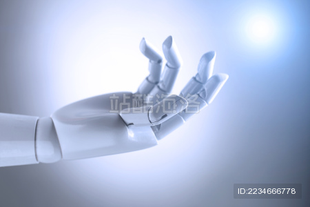 人工智能机械手伸出