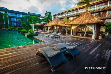 印尼某酒店的游泳池