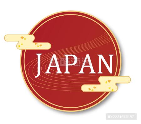 漂亮日本标志。适合使用日本产品·日本旅游等等